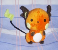 Raichu Plushie Commission by StitchyGirl