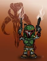 Chibi Fett by ginger-roots