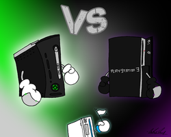 Xbox 360 Vs. PS3 by Cr253