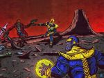 Guardians of the Galaxy vs thanos by dodero03