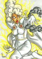 Storm Sketch Card by ibroussardart