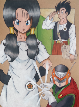Videl and Gohan - I know! by elfaba1993