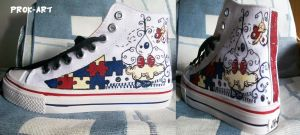My painted sneakers -2- by prok-art