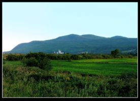 Rural Scenery At Dusk by JocelyneR