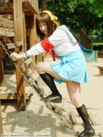 Haruhi on the Playground by chewibunny