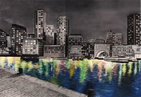 Boston Skyline by mmpninja