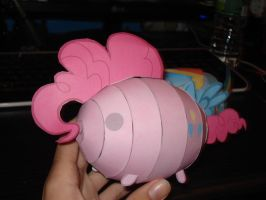 Pinkie Pie blob papercraft by RocketmanTan
