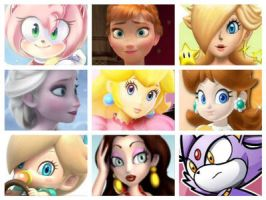 :My Top 9 Females: by Rosalina-Amy