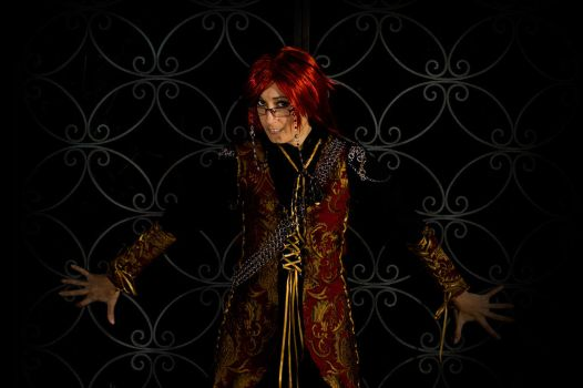 RedYume Photoshoot Grell 2 by CosplayMedia