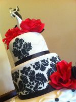 Damask Wedding Cake by Corpse-Queen