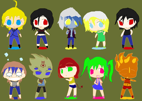 CAHW CHIBIES!! by SerVantoDeathwing