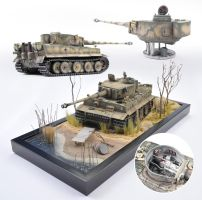 1/25th scale Tamiya Tiger I, Kharkov, May 1943 by theCrow65