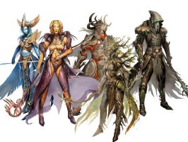gods of tyria .guild wars by RaIKoH696