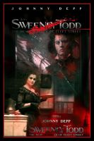 Sweeney Todd Movie Poster III by Rickbw1
