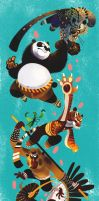 Animal is Kung Fu fighting by galgard