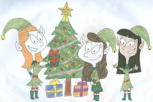 Candy, Stacy and Jenny the Elves by SithVampireMaster27