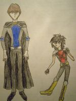 Kaiba and Mokuba as X-Men by Dragonastra