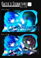 Before And After Kaito's signature by Aoi-chan01