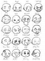 Emoticons Sheet 1 by GeomancerEDG