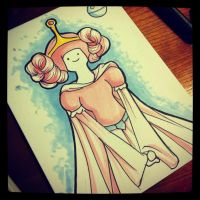 Princess Bubblegum as Leia by khallion