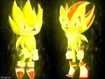 Super Sonic and Super Shadow by Crisskitty