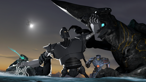 [SFM] The Iron Giant v. Pacific Rim Kaiju by MaddogSamureye
