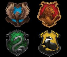 Hogwarts Houses by moonrays64