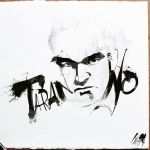 Quentin Tarantino drawing by CHIN2OFF
