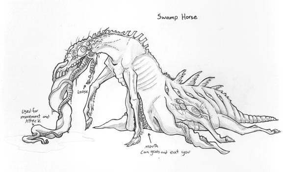 Swamp Horse: Bloodborne inspired by Kazulgfox