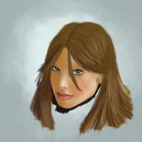 a study of a girl's head by FarinellaPortfolio