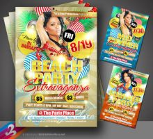 Beach Party Flyer Template by AnotherBcreation