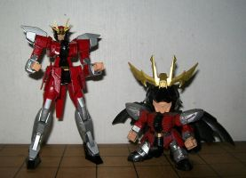 Double Bison Gundams by Combatkaiser