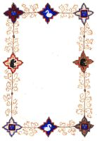 Gold border scroll by fainting-goat
