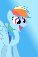 Rainbow Dash Happy Wallpaper by ParticleJello