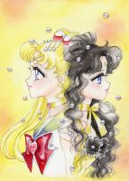 Sailor Moon e Luna by ladymadge
