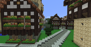 Minecraft Sandstone Castle Inn by UNDEADWARRIOR7411