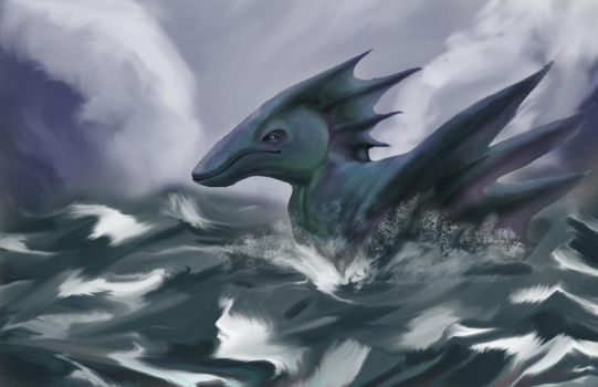 Dragon painting thing by BlueWolfD