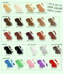 Myth's Big Fat Hair Color Swatch Chart by Mytherea