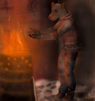 Warm by the Fire by RiddersmanGrim