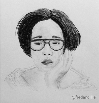 Nam Taehyun (charcoal + graphite) by fred-xo