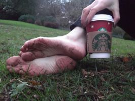 Starbucks Soles by Foxy-Feet