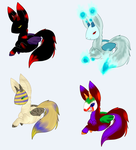 Demon Llama Halloween adopts by CleverConflict