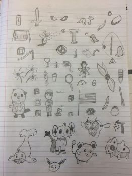 BUNCH OF DOODLES 2.0! by kingster333