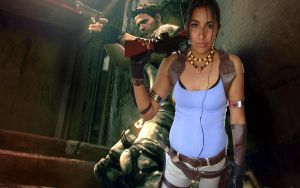 sheva and chris xD by Yamilla