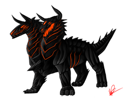 Obsidian Orthus by Manticoress