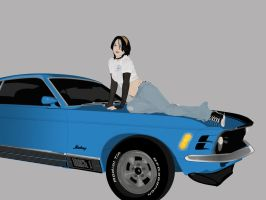 Mustang Girl by TouchOfRed