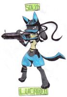 Solid Lucario by BubbleLum