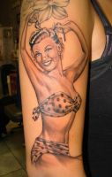 pin up girl tattoo by asussman