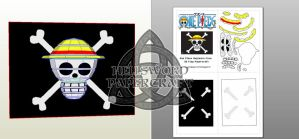 One Piece Mugiwara Crew 3D flag Papercraft Preview by HellswordPapercraft