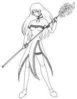 Lady with Halberd by topace12